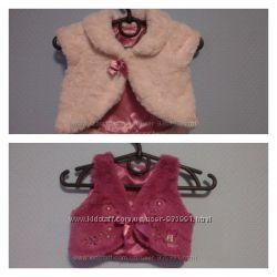 Меховая жилеточка baby boutique 3-6мес 68см больше Minnie Mouse Disney 3-6