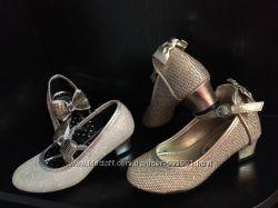 Золотые и и серебряные туфли на каблучках angels accessorize 7 размер
