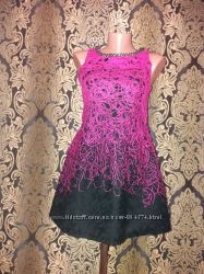 Актуальное тёплое платье сарафан красивый воротник S-M в стиле beby doll