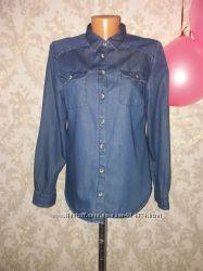 Стильная джинсовая рубашка m-l George