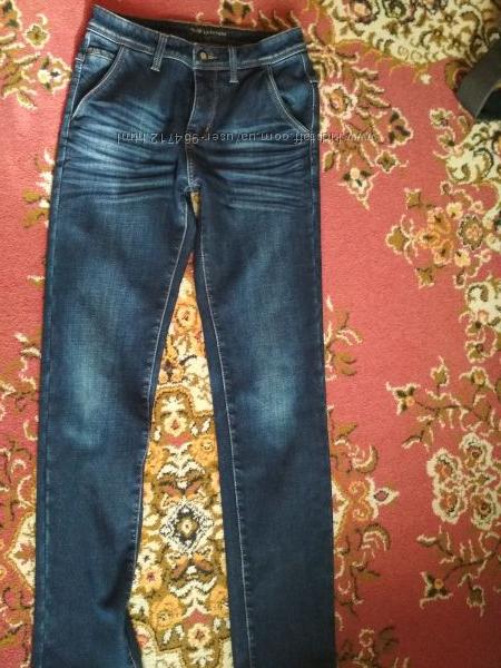 Теплые мужские джинсы р 29