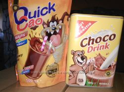 Какао Quick Cao 500 г и Choco Drink 800 г, Германия
