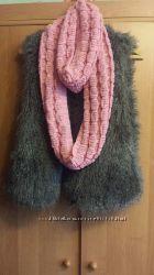 Вязаный хомут  шарф
