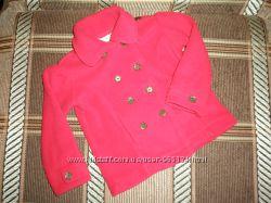 Флисовая кофта пиджачок для маленькой леди 9-12 мес