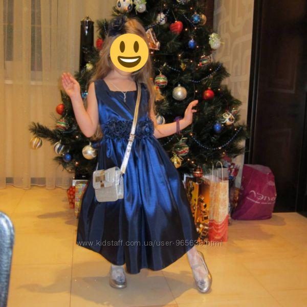 Продам  роскошное американское платье синего цвета
