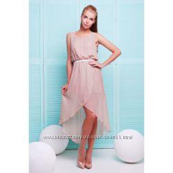 Платье- сарафан шифон удлиненное сзади