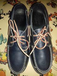 Топсайдеры-туфли кожаные TimberLand 24. 5 см