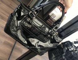 Celine сумочка деловая лаковая