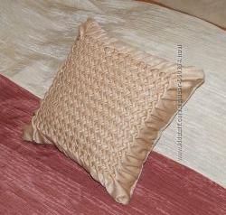 Подушка декоративная ручная работа, подушка диванная.