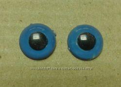 Глазки синие круглые реалистичные диаметр 10 мм
