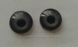 Глазки серые круглые реалистичные диаметром 9 мм.