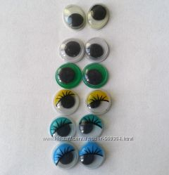 Глазки для игрушек  бегающие, 10 коп шт, цена указана за упаковку.