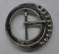 Пряжка круглая металлическая под пояс шириной 19 мм, диаметр 30 мм
