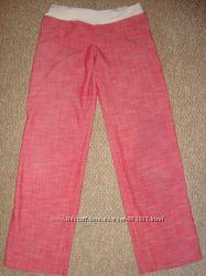 Женские льняные брюки штаны для будущей мамы Размер S-M