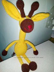 Жираф крючком игрушка