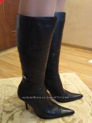 Сапоги зимние кожаные в отличном состоянии