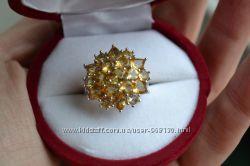 Кольцо серебро с цитрином 16, 5р