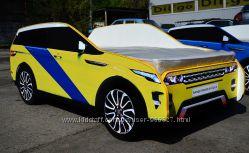 Кровать-машина Range Rover жёлто-синий