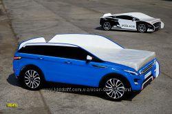 Кровать-Машина Range Rover Evoque синий из Мдф