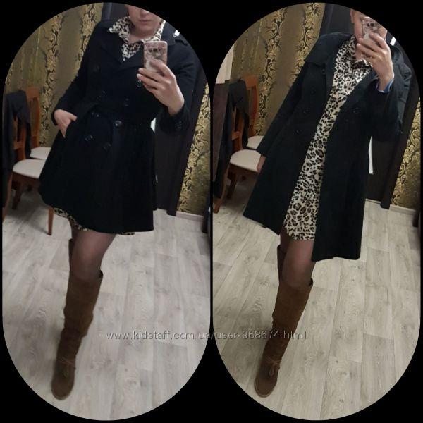 Шерстяное демисезонное пальто от H&M