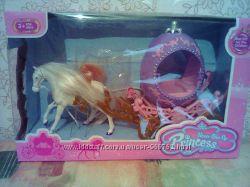 Карета для принцессы с лошадью новая