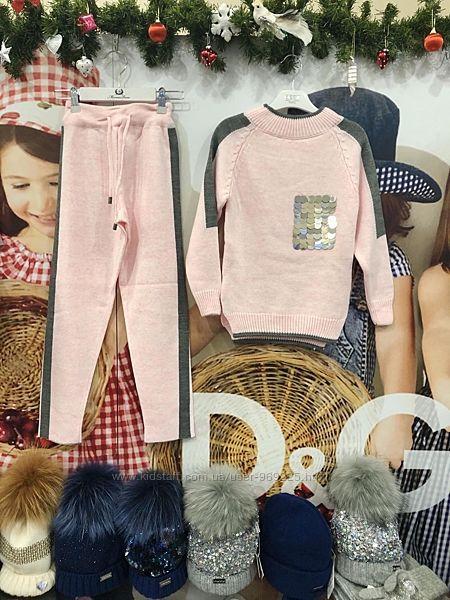 Стильные вязаные костюмы для девочки. Скидка