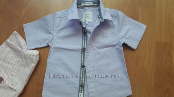 Две шикарные новые рубашки 12-18 месяцев