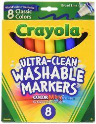 Фломастеры Crayola Washable Markers 8 штук
