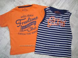 Наши фирменные футболки на 3-4 года. Next, Zara, Benetton.