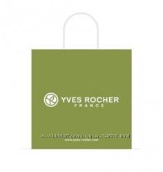 Пакет Yves Rocher бумажный зеленый Ив Роше