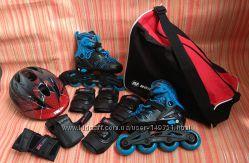 Продаём полный комплект  Ролики 28-31 Шлем Защита Сумка