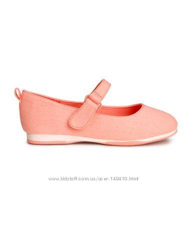 Текстильные балетки туфли H&M, размер 7, 5 US