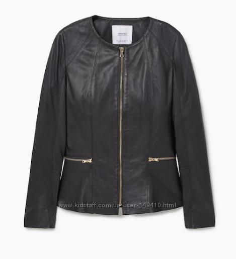 Новая кожаная куртка Mango, размер XS