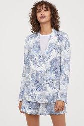 Льняной летний пиджак H&M