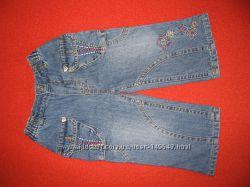 Маленькие джинсы на хлопковой подкладке размер 74 см