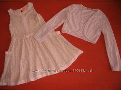 Платье кружевное Next Некст и болеро на 8 лет