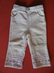 Нарядные брючки джинсы TESCO на 9-12 мес.
