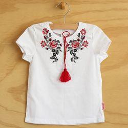 Акция - футболка вышиванка тм Бемби фб339 для девочки разм 86