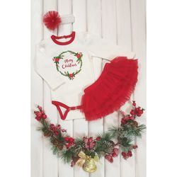 Скидка - Красивенный костюмчик с фатиновой пышной юбочкой - разм с 74 по 98