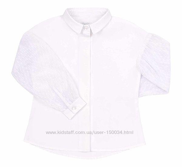 Красивая блузка с кружевными рукавами тм Бемби рб143