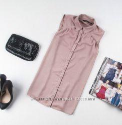 Летняя блуза пудра New Look маст-хэв S и M
