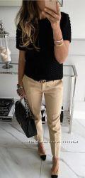 Базовые классические брюки-трубочки Zara