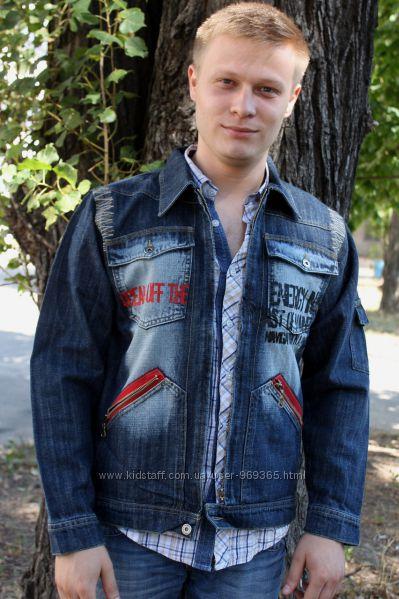 Джинсовый пиджак Puledro для мальчика. 128 размер.