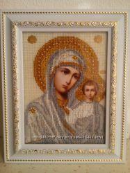 Продам шикарные иконы вышитые чешским бисером