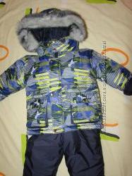 Качественныеи теплые зимние комбинезоны-костюмы для мальчиков, 80-122