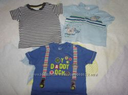 Родные классные фирменные футболки для модных малышей почти даром