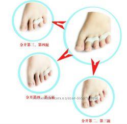 Вальгус про. Разделитель-фиксатор пальцев ноги, колпачек , защита пятки.