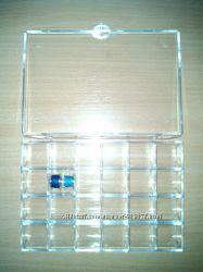 Пластиковый органайзер, бокс, коробочка для шпулек на 48 шт.