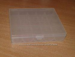 Пластиковый органайзер, бокс, коробочка для шпулек на 25 и 48 шт.