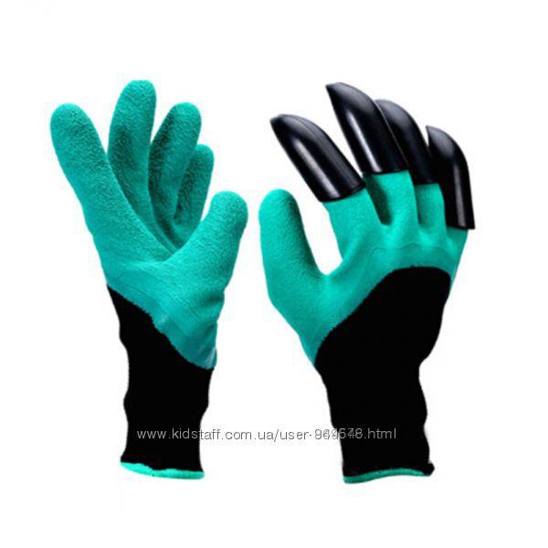 Садовые перчатки с когтями Garden Genie Gloves, перчатка для сада